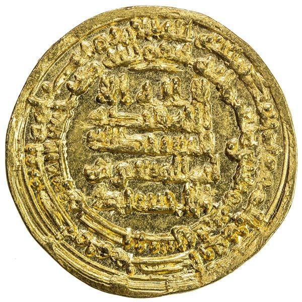 IKHSHIDID: Abu'l-Qasim, 946-961, AV dinar (3.46g), Misr, AH335. UNC