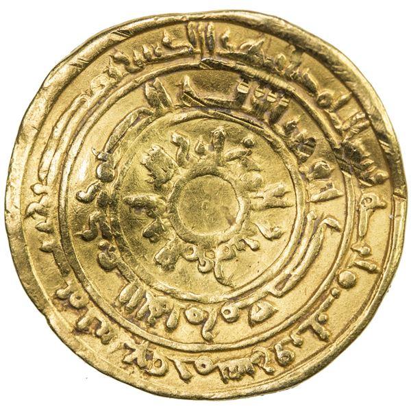 FATIMID: al-Mu'izz, 953-975, AV dinar (4.07g), Misr, AH359. VF