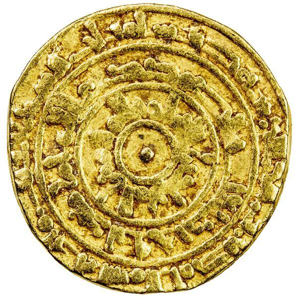 FATIMID: al-Mu'izz, 953-975, AV dinar (3.75g), Misr, AH363. F