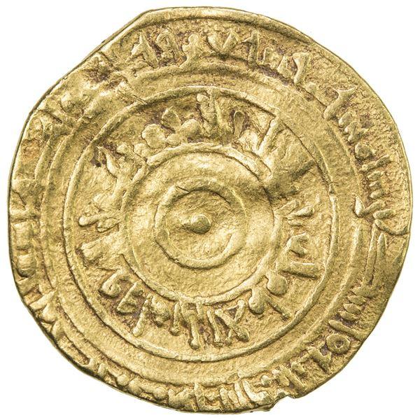 FATIMID: al-'Aziz, 975-996, AV dinar (3.57g), Filastin, AH374. VF