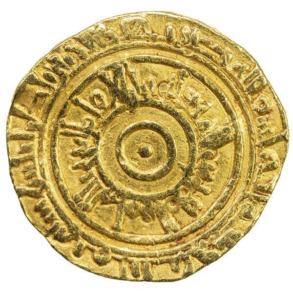 FATIMID: al-'Aziz, 975-996, AV dinar (3.91g), Atrabulus (Trablus), AH380. VF