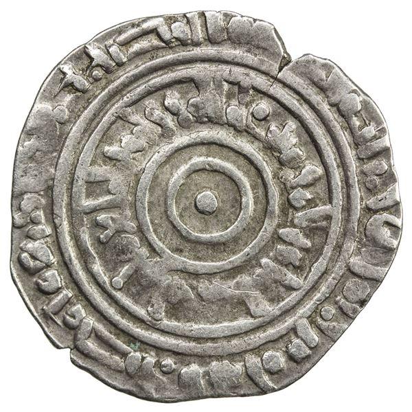 FATIMID: al-'Aziz, 975-996, AR 1/2 dirham (1.44g), Misr, AH385. VF