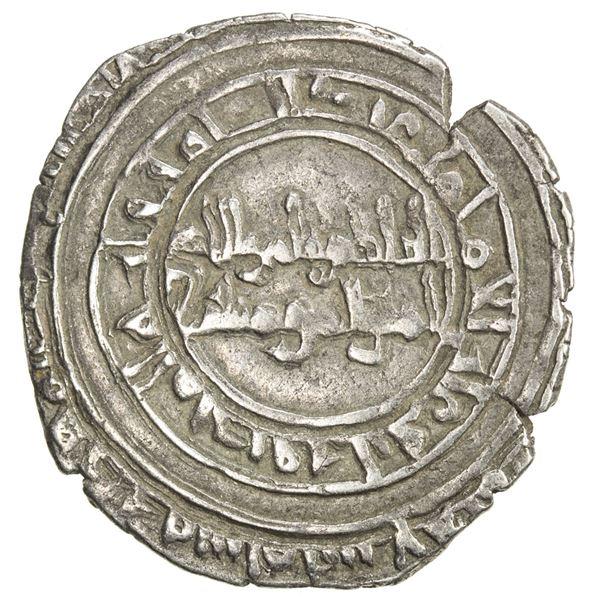 FATIMID: al-Hakim, 996-1021, AR 1/2 dirham (1.38g), al-Mahdiya, AH(3)89. VF