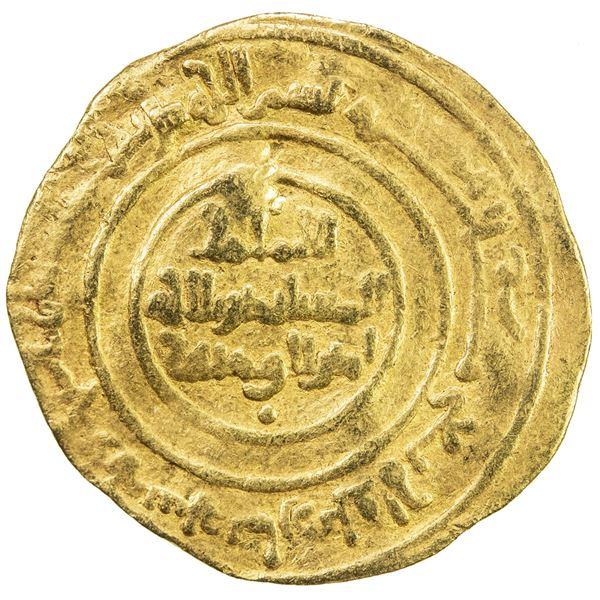 FATIMID: al-Mustansir, 1036-1094, AV dinar (4.12g), al-Mansuriya, AH438. F