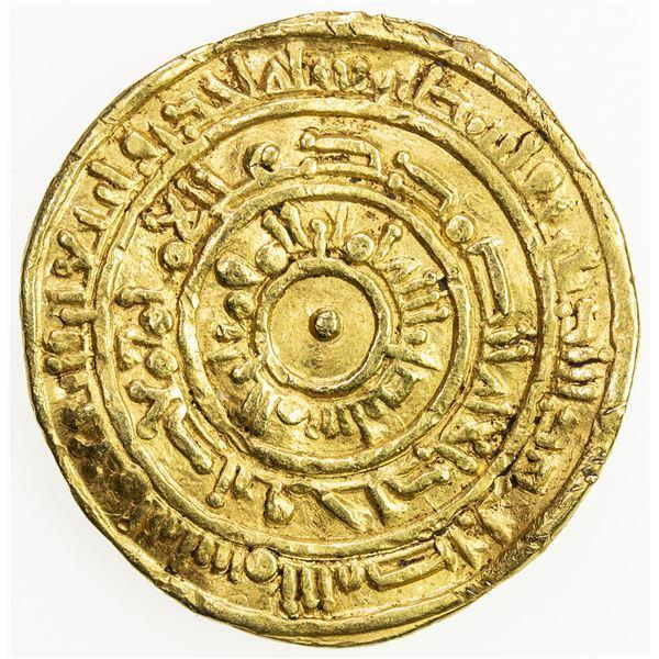 FATIMID: al-Mustansir, 1036-1094, AV dinar (3.78g), Filastin, AH441. VF