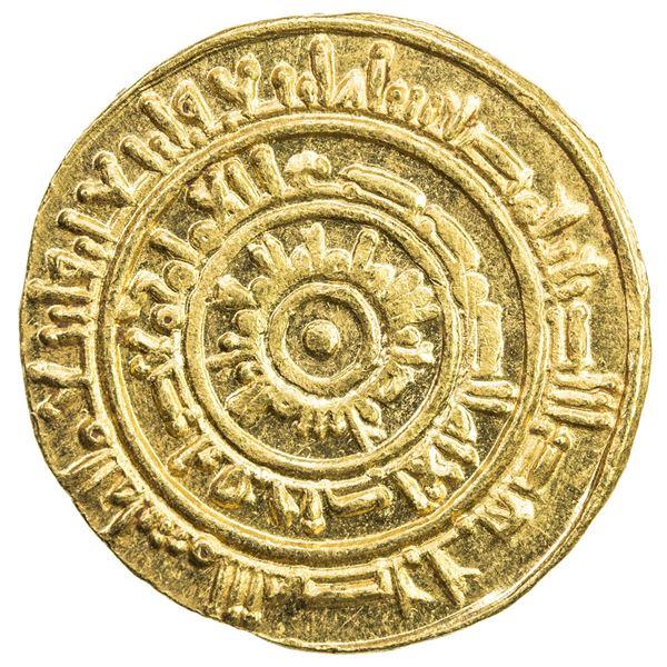 FATIMID: al-Mustansir, 1036-1094, AV dinar (4.25g), Misr, AH444. AU