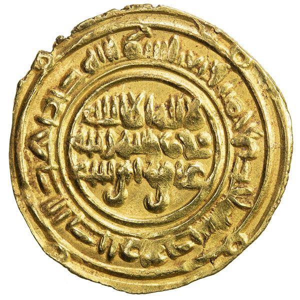 SULAYHID: 'Ali b. Muhammad, 1047-1081, AV dinar (2.43g), Zabid, AH451. VF