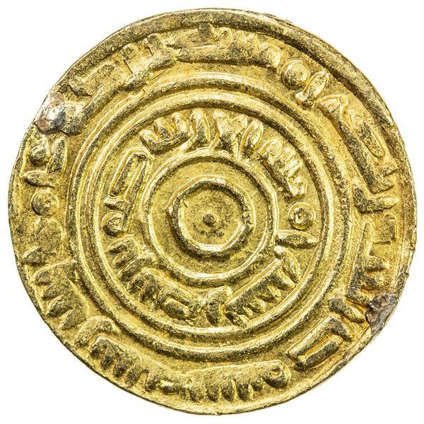 """MADAGASCAR: Anonymous, ca. 1020-1050, AV dinar (3.44g), """"Madinat 'Adan"""", AH""""406"""". EF"""
