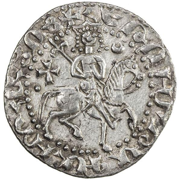 SELJUQ OF RUM: Kaykhusraw II, 1236-1245, AR bilingual tram (2.96g), Sis, AH637. EF
