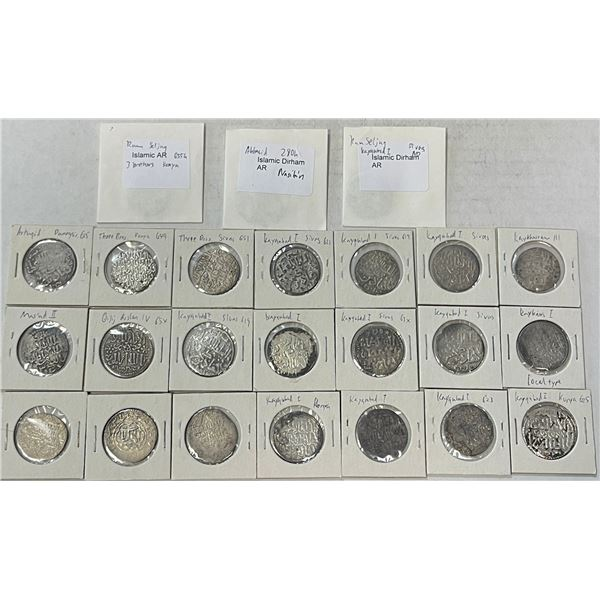 SELJUQ OF RUM: LOT of 24 silver dirhams