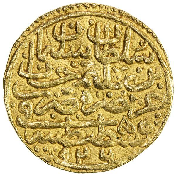 OTTOMAN EMPIRE: Suleyman I, 1520-1566, AV sultani (3.51g), Kostantiniye, AH926. VF