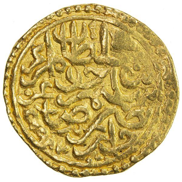 OTTOMAN EMPIRE: Murad III, 1574-1595, AV sultani (3.46g), Jaza'ir (Jezayir), AH982. F-VF