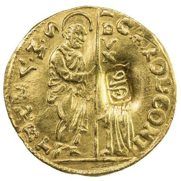 OTTOMAN EMPIRE: Suleyman II, 1687-1691, AV zecchino (3.49g)