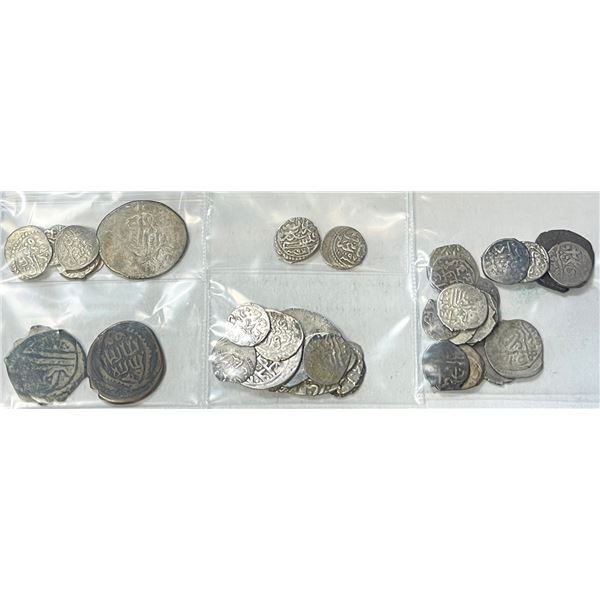 OTTOMAN EMPIRE: LOT of 36 silver and 3 copper coins