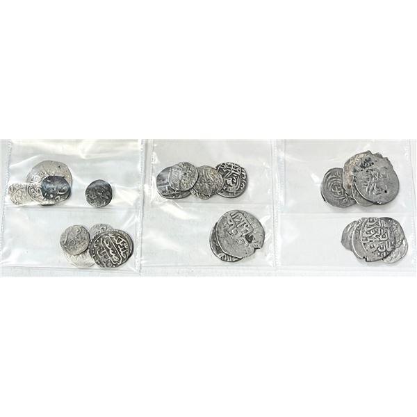 OTTOMAN EMPIRE: LOT of 34 silver coins