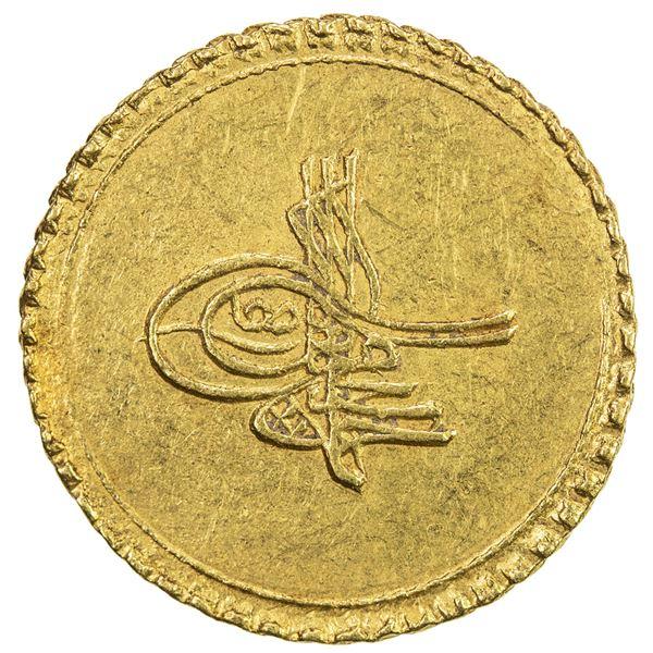 EGYPT: Ahmed III, 1703-1730, AV eshrefi (sultani), (3.52g), Misr, AH1115. EF
