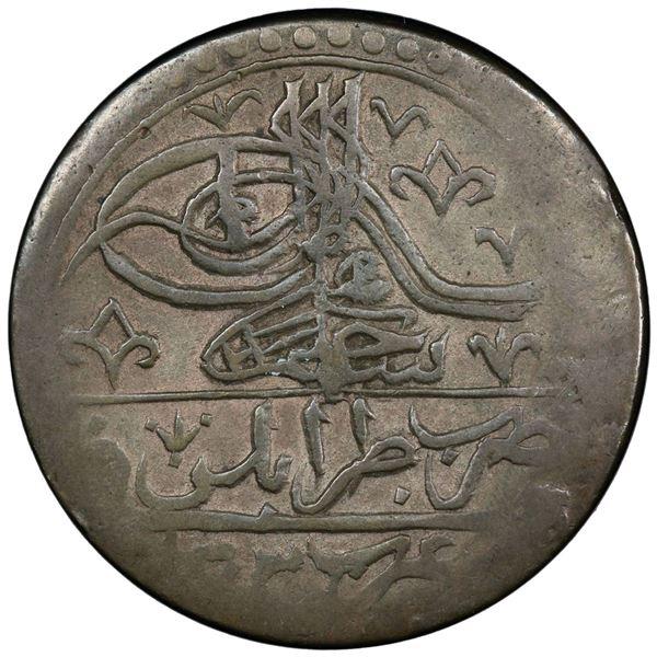 TRIPOLI: Selim III, 1789-1807, AR 100 para (yuzluk), Tarabalus Gharb, AH1203. PCGS XF40