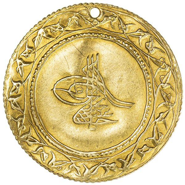 TURKEY: Abdul Hamid I, 1774-1789, AV 1 1/2 altin (4.65g), Islambul, AH1187 year 3. VF