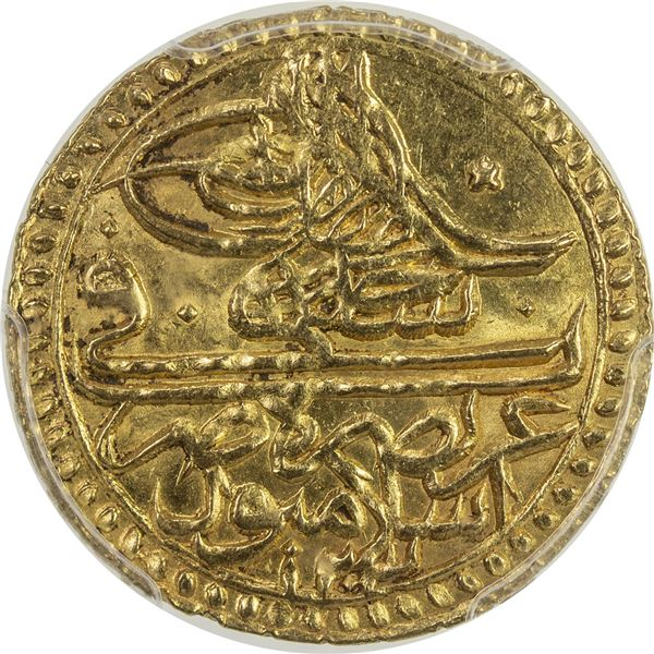 TURKEY: Selim III, 1789-1807, AV zeri mahbub, Islambul, AH1203 year 11. PCGS MS64