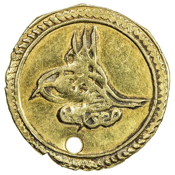 TURKEY: Mustafa IV, 1807-1808, AV sultani (altin) (3.16g), Kostantiniye, AH1222 year 1. VF