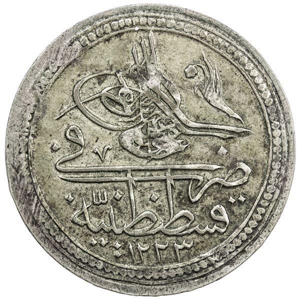 TURKEY: Mahmud II, 1808-1839, BI kurush, AH1223 year 14. VF-EF