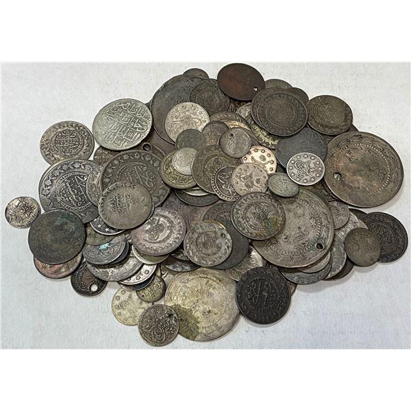 TURKEY: LOT of 136 miscellaneous Ottoman Turkish coins