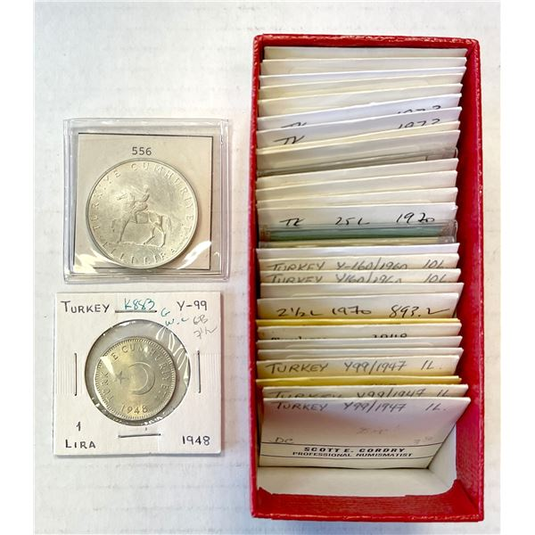 TURKEY: LOT of 31 modern silver coins of the Republic