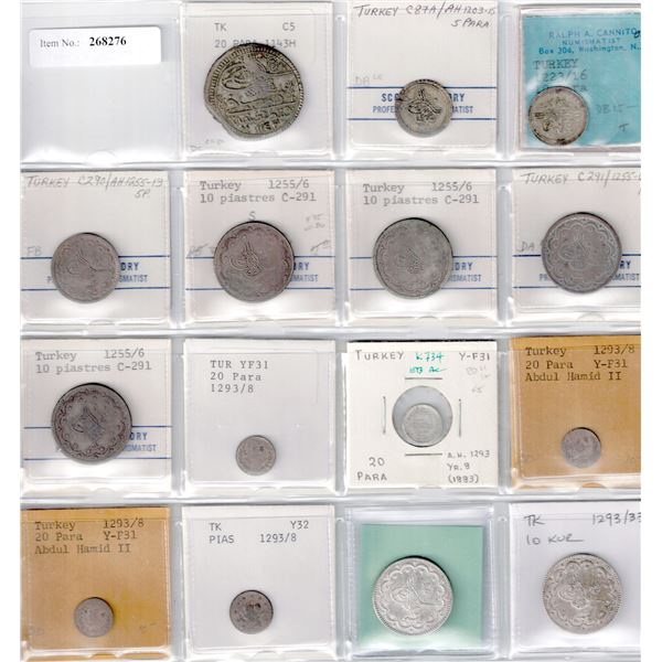 TURKEY: LOT of 15 better silver coins