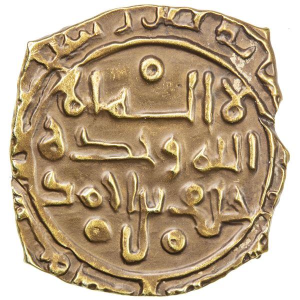 SAFFARID: Khalaf b. Ahmad, 3rd reign, 981-1000, AV fractional dinar (1.59g), Sijistan, AH(3)73. VF-E