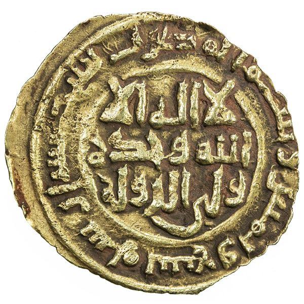 SAFFARID: Khalaf b. Ahmad, 3rd reign, 981-1000, AV fractional dinar (1.36g), Sijistan, AH389. VF-EF