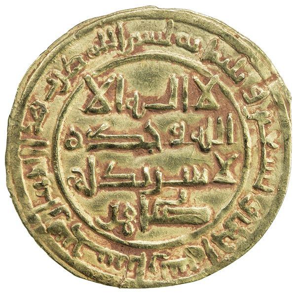 SAFFARID: Tahir b. Khalaf, 1000-1002, AV full dinar (3.86g), Sijistan, AH391. EF