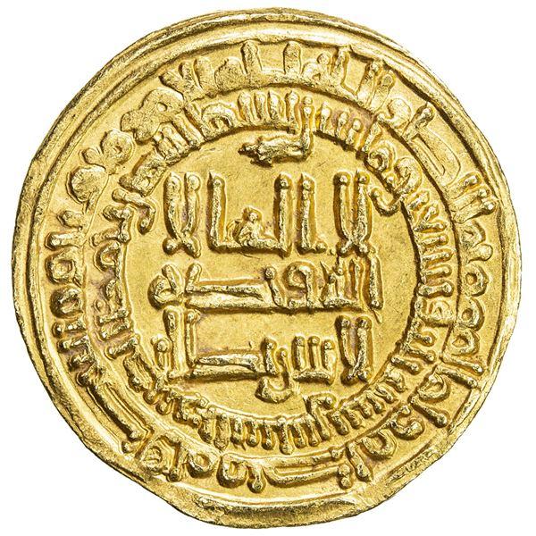 SAMANID: Isma'il I, 892-907, AV dinar (4.19g), al-Shash, AH293. EF