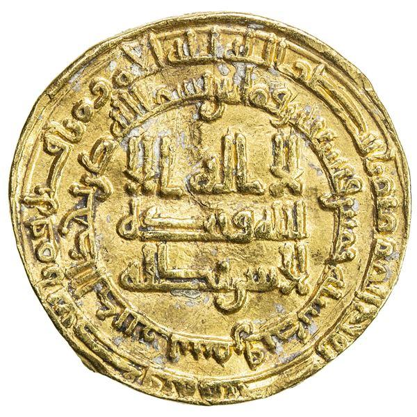 SAMANID: Ahmad II, 907-914, AV dinar (4.26g), Samarqand, AH295. VF