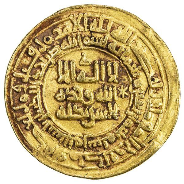 SAMANID: 'Abd al-Malik I, 954-961, AV dinar (4.89g), Nishapur, AH343. VF