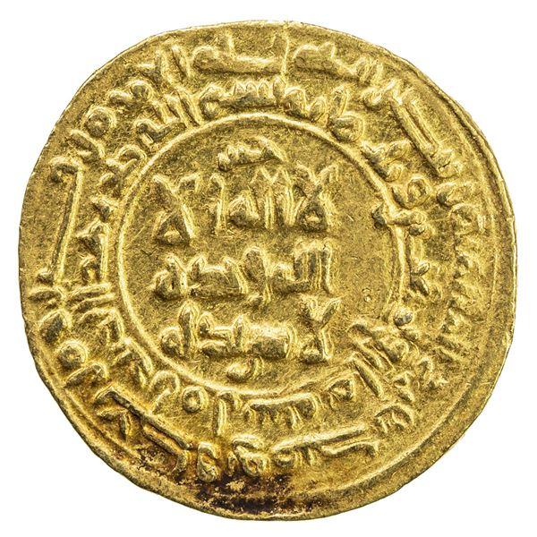 SAMANID: 'Abd al-Malik I, 954-961, AV dinar (2.87g), Amul, AH348. EF