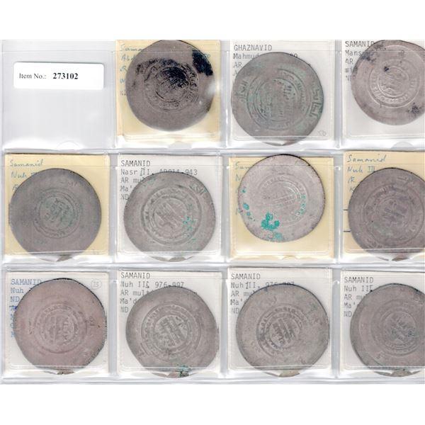 SAMANID: LOT of 11 silver multiple dinars