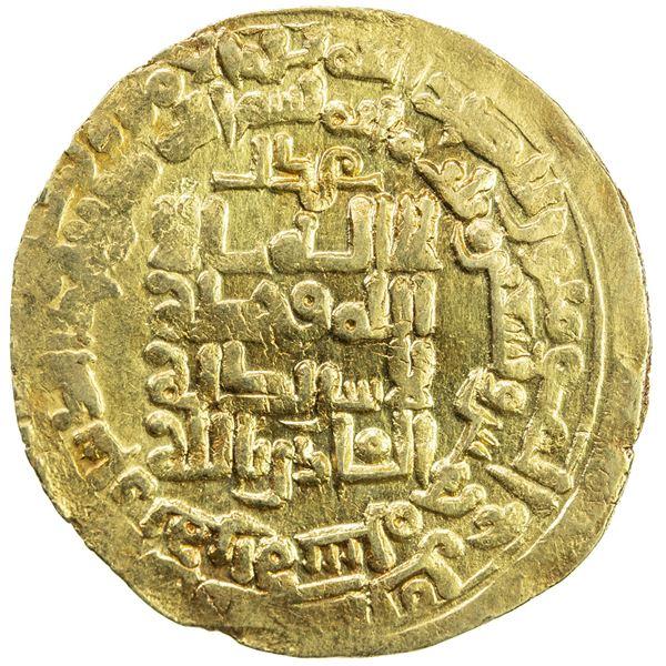 GHAZNAVID: Mahmud, 999-1030, AV dinar (3.25g), Herat, AH395. VF