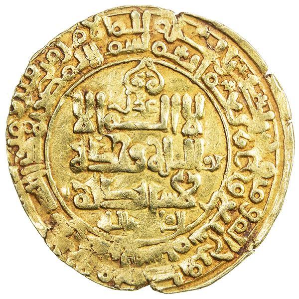 GHAZNAVID: Mahmud, 999-1030, AV dinar (3.63g), Ghazna, AH407. VF