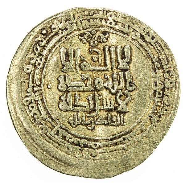 GHAZNAVID: Mahmud, 999-1030, AV dinar (4.03g), Ghazna, AH416. VF