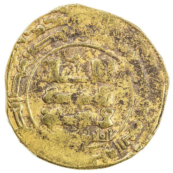 GHAZNAVID: Farrukhzad, 1053-1059, AV dinar (5.57g) (Ghazna), AH444. F-VF