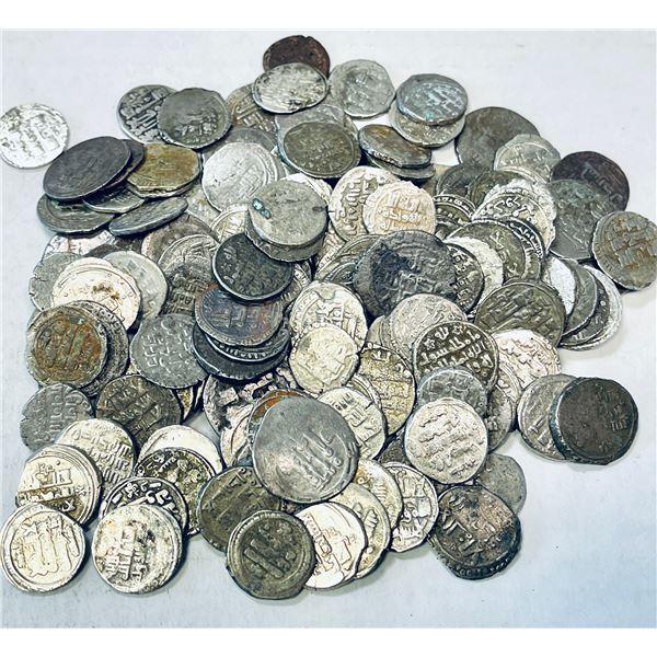 GHAZNAVID: LOT of 173 silver yamini dirhams