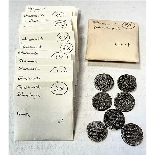 GHAZNAVID: LOT of 41 silver dirhams and 2 silver half dirhams