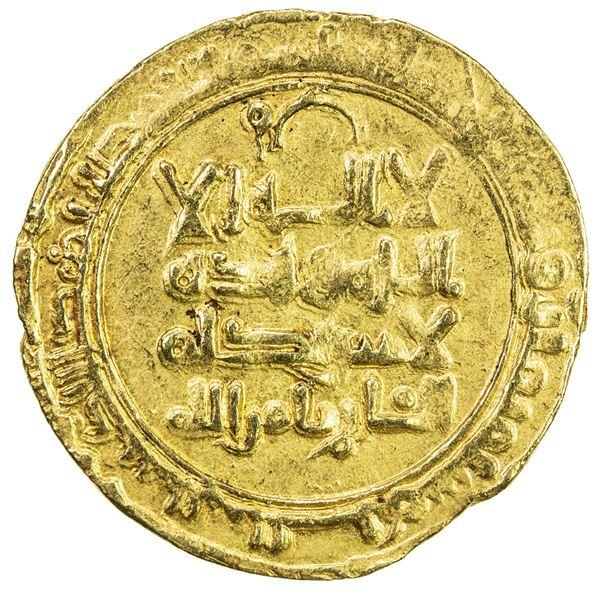 GREAT SELJUQ: Tughril Beg, 1038-1063, AV dinar (3.43g), Rayy, AH438. VF