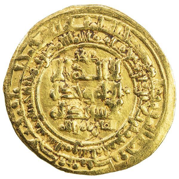 GREAT SELJUQ: Tughril Beg, 1038-1063, AV dinar (4.97g), Nishapur, AH442. VF