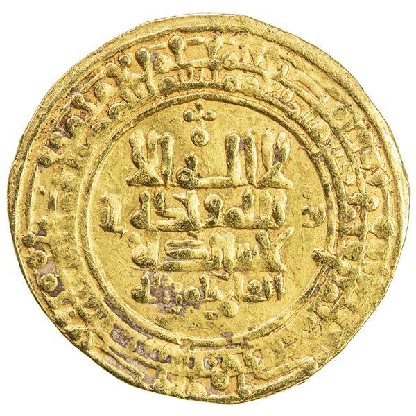 GREAT SELJUQ: Tughril Beg, 1038-1063, AV dinar (4.75g), Nishapur, AH448. VF