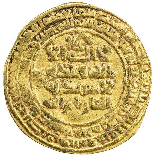 GREAT SELJUQ: Tughril Beg, 1038-1063, AV dinar (4.59g), Isfahan, AH448. VF