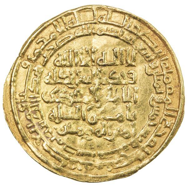 GREAT SELJUQ: Malikshah I, 1072-1092, AV dinar (3.20g), Madinat al-Salam, AH485. VF