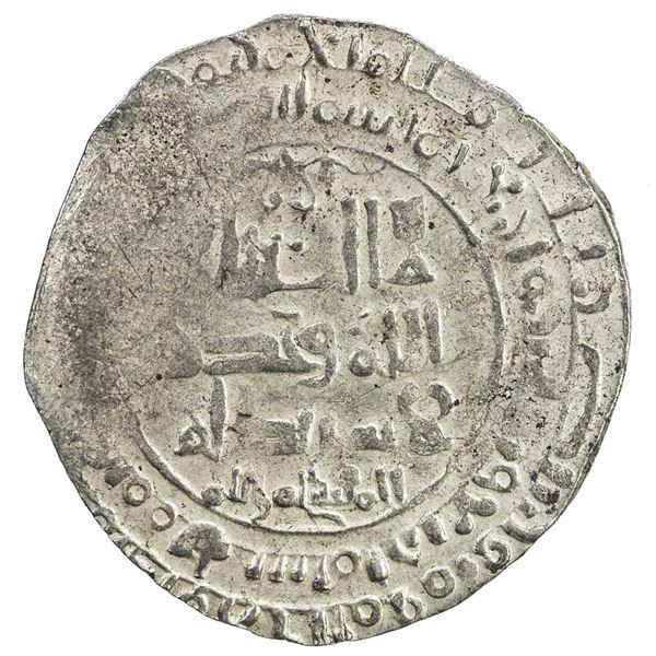 GREAT SELJUQ: Malikshah I, 1072-1092, pale AV dinar (2.97g), AH484. VF