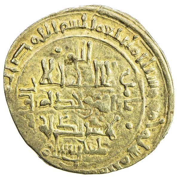 GREAT SELJUQ: Toghanshah, 1072-1082+, pale AV dinar (3.82g), Herat, AH465. VF
