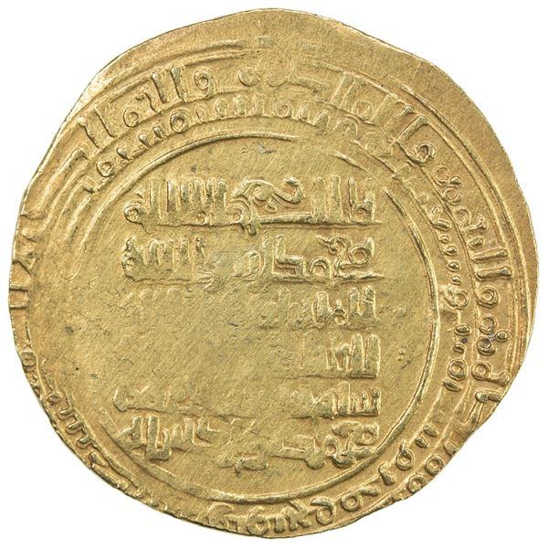 GREAT SELJUQ: Sanjar, 1097-1098, pale AV dinar (2.72g), Walwarlij, AH493. VF-EF
